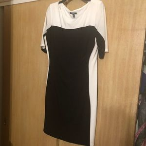 Chaps! Black and white dress size extra Lg.